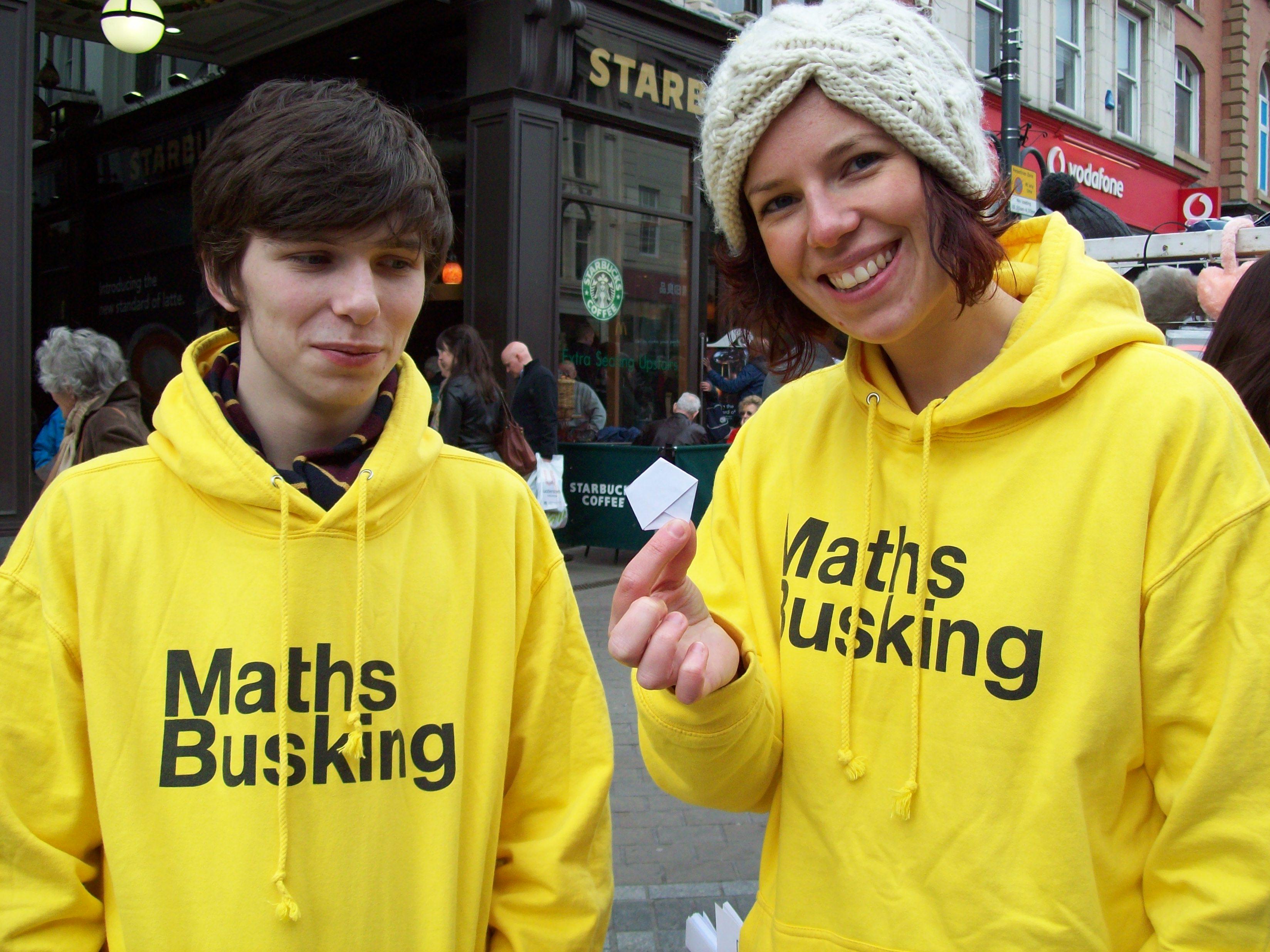 Maths Busking in Leeds