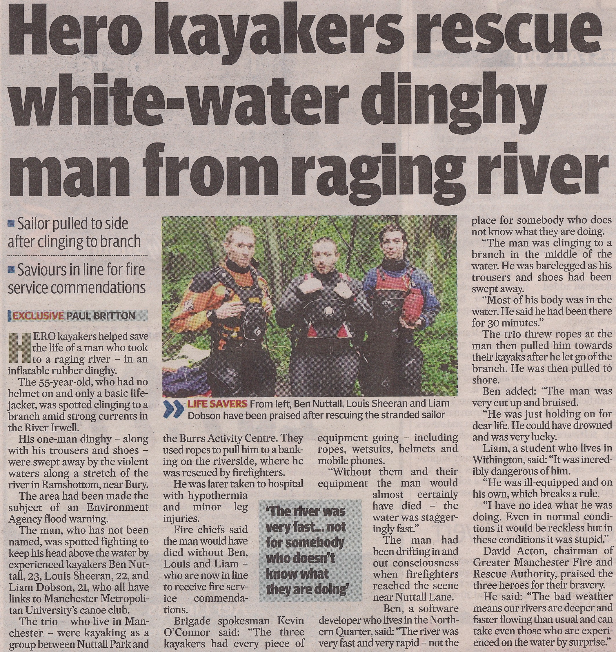 Hero Kayakers Rescue Whitewater Dinghy Man
