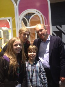 Meeting Tim Berners-Lee with Amy and Dan Mather
