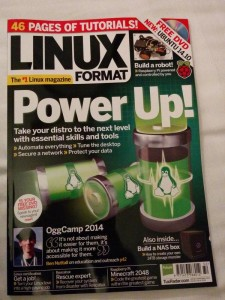 Me on the front of Linux Format magazine