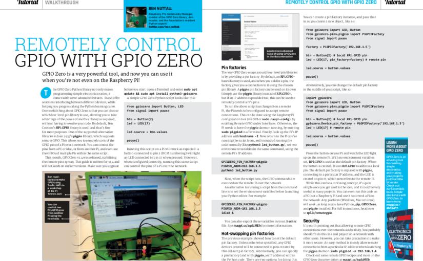 What's new in GPIO Zero v1.4?